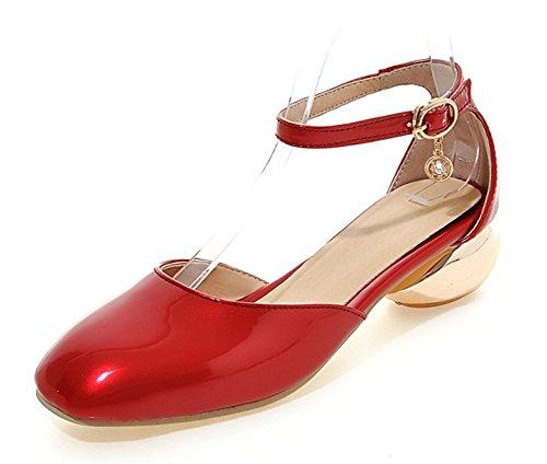 Ankle Buckle Sandal Heels - 7