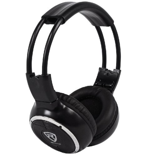 Rockville RFH3 Wireless Universal Infrared IR Headphones for Any Car Monitor - Black