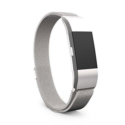 Steel Wristband Bracelet Strap Fitness Monitor Black - 3