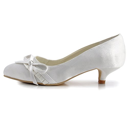 femme 4cm pour Escarpins blanc White Heel Minitoo 0ZBzxB