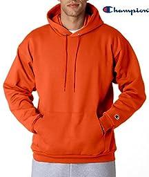 Champion Men\'s Front Pocket Pullover Hoodie Sweatshirt, Medium, Orange