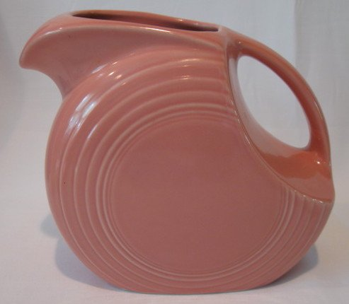Fiesta Disc Water Pitcher Rose Pink Fiesta Pitcher 67.25 OZ 7