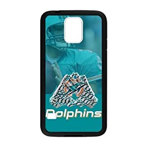 Caitin Miami?Dolphins Blue Theme Cases Cover Protection Hard Shell for Samsung Galaxy S5