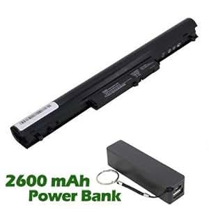 Battpit Bateria de repuesto para portátiles HP Pavilion 15-b070sl (2200mah) con 2600mAh Banco de energía / batería externa (negro) para Smartphone
