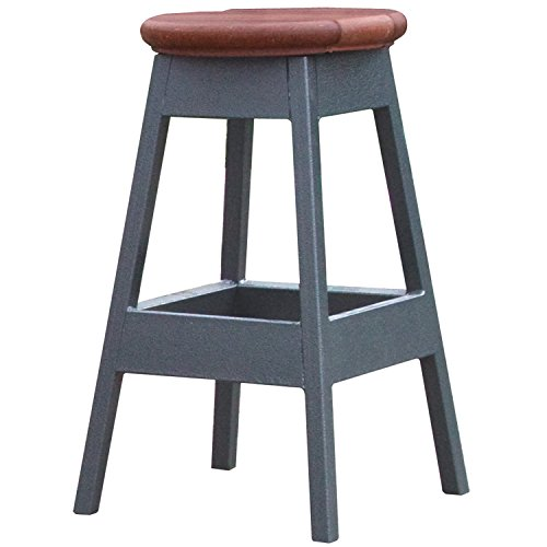 Cal Metro CM957-CSM 14'' x 14'' x 24'' Bar Stool for Spa, Mahogany by Cal Metro