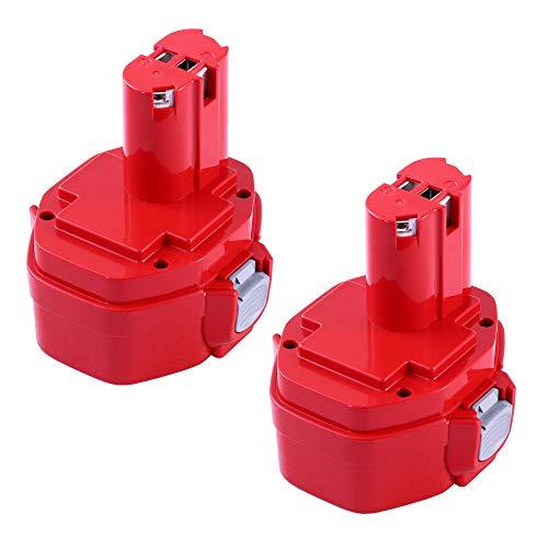 3600mAh Ni-Mh 14.4 Volt Battery replace for Makita 14.4V Battery 1420 PA14 1434 1422 1433 1435 1435F 192699-A 193158-3 192600-1 Cordless Power Tool - 2 Pack
