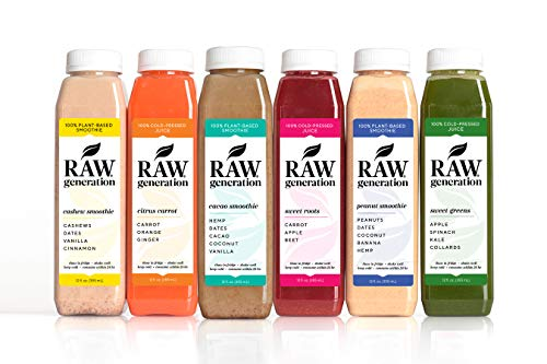 5-Day Protein Cleanse by Raw Generation® – High Protein Juice Cleanse with Dairy and Soy-Free Protein Smoothies/Lose Weight Quickly While Energizing Your Workouts/Jumpstart a Healthier Diet