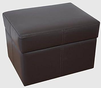 Design Luxus Hocker Lounge Sofa Couch Polster Sitz Leder Braun Sl01