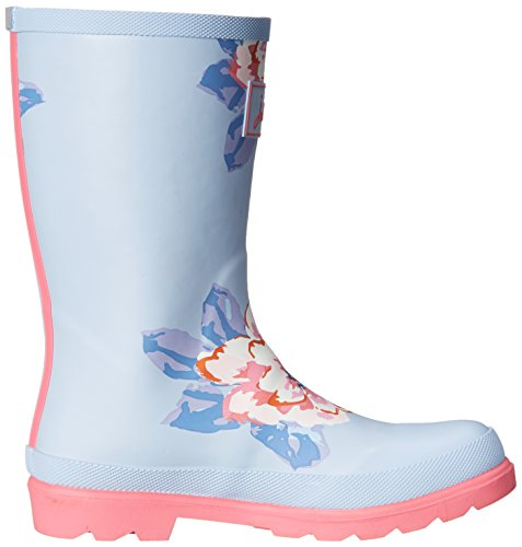 Toddler Kid Floral Sky Boot Blue JNR Rain Kid Joules Welly Little Girls Big wzqXgpH