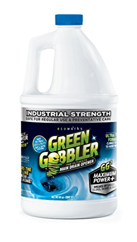 GREEN GOBBLER Ultimate Main Drain Opener + Drain cleaner + Hair Clog Remover - 64 oz (Main Lines, Sinks, Tubs, Toilets, Showers, Kitchen Sinks) (64 Oz Septic Cleaner)