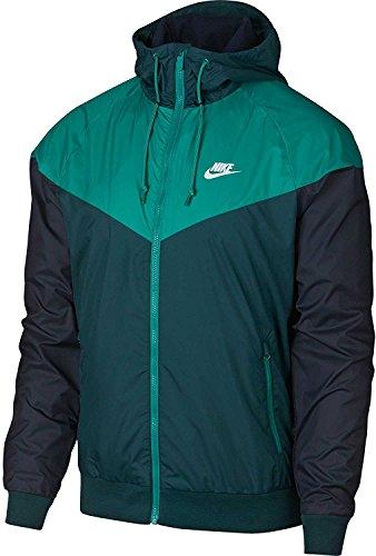 Nike New Club Jacket (Nike Mens Windrunner Hooded Track Jacket Dk Atomic Teal/Neptn Grn 727324-375 (Medium))