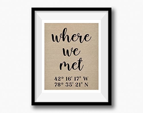 Tour Dates Poster (Where We Met | Latitude Longitude GPS Coordinates | 100% Cotton Anniversary Gift | Where It All Began | Wedding Location First Date)