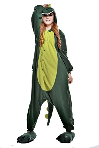 (NEWCOSPLAY Unisex Adult Animal Pajamas Halloween Costume (L,)