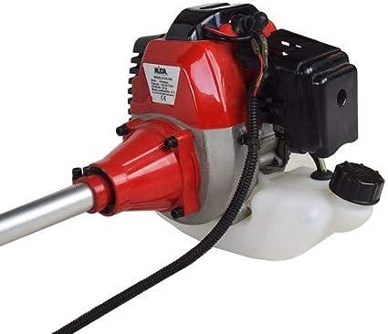 KUDA CN-520 Desbrozadora Motor de Gasolina, 2 tiempos, Barra Partida con disco 3 puntas, cabezal de hilo, arnés, roja, 52 cc: Amazon.es: Bricolaje y herramientas