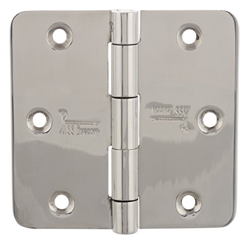 3 1/2' Heavy Duty Hinge (3 pieces STAINLESS STEEL ENTRY DOOR HINGES Security Lock PIN Hinges 3.5'' X 3.5'' BRIGHT MIRROR POLISHED Finish 353525RS-SP-32 1/4 Radius Heavy Duty DESIGN SUITABLE FOR ALL TYPES OF DOOR SS iSKCON)