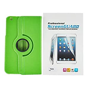 PU Leather Case With Touch Pen And Protective Film for Samsung Galaxy Tab 3 8.0 T310 --- COLOR:Green