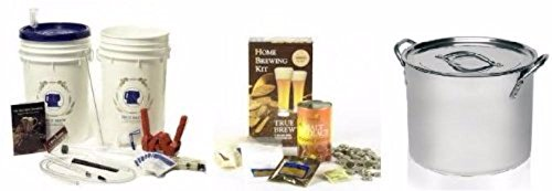 Maestro Plus Home Brew Beer Making Equipment with 5 Gallon Ingredient Kit and 5 Gallon Stainless Steel Stock Pot by Learn To Brew LLC