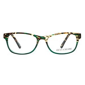 OCCI CHIARI Rectangle Stylish Eyewear Frame Non-prescription Eyeglasses With Clear Lenses Gifts for Women