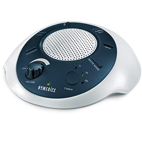 🥇 HoMedics White Noise Sound Machine | Portable Sleep Therapy for Home