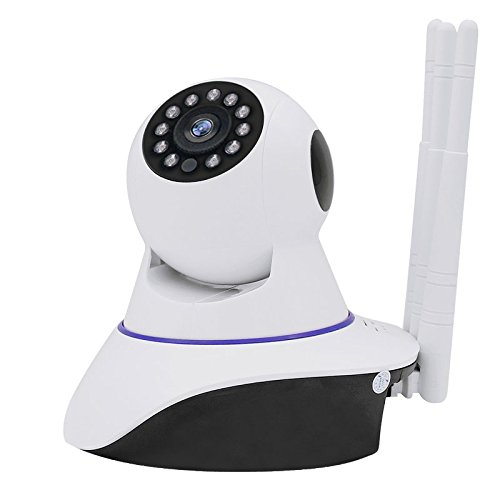 Joney Wireless HD IP Camera with 3pcs wireless antenna,Support 2 Way Audio, Day/Night Vision Webcam (1.3MP)