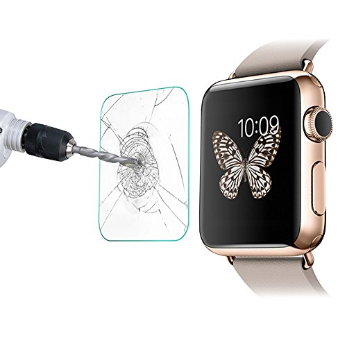 Screen 3 Premium Protectors ([2 Pack] Compatible Apple Watch 42mm Tempered Glass Screen Protector Cambered - 9H Hardness Bubble Free Premium Anti-Scratch Compatible Series 1 2 & 3)