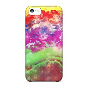 Premium Color Clouds Back Cover Snap On Case For Iphone 5c