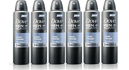 Set of 6 Dove Men + Care Cool Fresh Spray Deodorant & Anti-Perspirant 150ml/5.07 Oz
