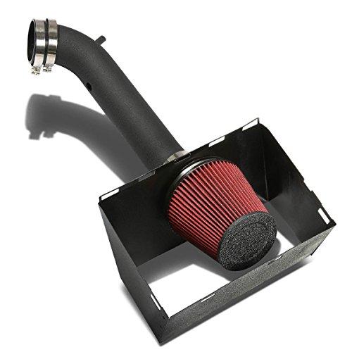 DNA Motoring AIP-2-HS-RAM03V8-BKBK Cold Air Intake System and Heat Shield (2005 Dodge Ram 1500 Cold Air Intake)