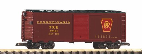 PIKO G SCALE MODEL TRAINS - PRR STEEL BOXCAR 80464 TUSCAN - 38825