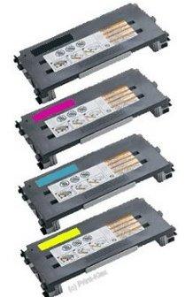 (Lexmark Compatible Four Color Set for C500n, X500, X502n Printers - 1 Black, 1 Cyan, 1 Magenta, 1 Yellow High Yield Toner Cartridge 5K Black, 3K Colors)