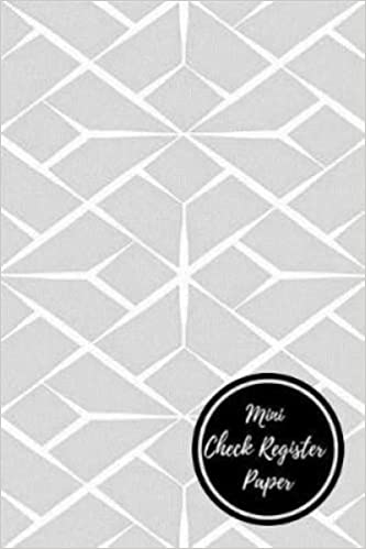 mini check register paper check log journals for all
