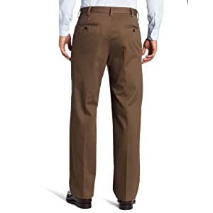 IZOD Men's American Chino Flat Front Straight-Fit Pant, Decaf Coffee, 33W x 32L