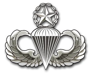 MilitaryBest US Army Master Parachutist Wings Decal Sticker 3.8