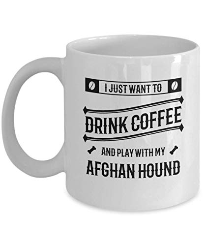 Funny Afghan Hound Coffee Mug - Dog Lover - Cute Pet Gifts for Mom and ()