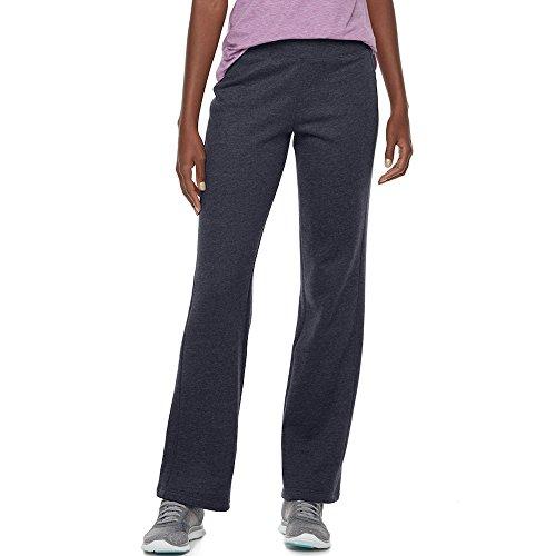 Tek Gear Women's Mid Rise Fleece Lined Straight Leg Pants Navy Large - Fleece Gear Tek