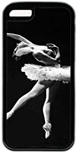 LJF phone case Black And White Classic Ballet Dance Theme Iphone 5C Case