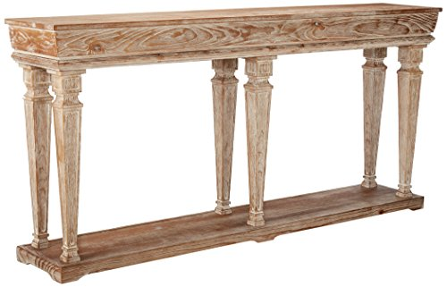 (Powell's Furniture 958-534 Benjamin, Antique White Console,)