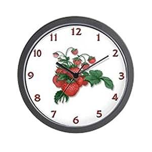 Cafepress Strawberries Unique Decorative 10 Wall Clock Home Kitchen