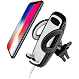 Easy One Touch Release Universal Air Vent Car Mount Cradle Clip Holder Smartphone, Android, iPhone & Samsung Galaxy - Vertical or Horizontal Vent Clip Design w/Easy Phone Release