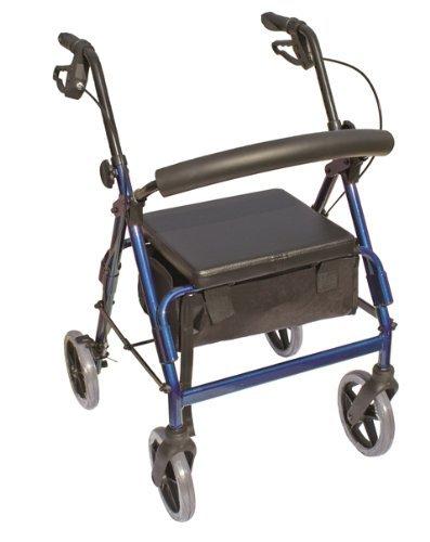 The Blazer® 4 Wheel Rolling Walker Color: Blue