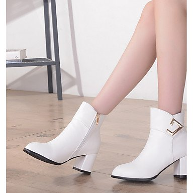 Women's Shoes PU Leatherette Fall Winter Comfort Novelty Bootie Boots Chunky Heel Round Toe Booties/Ankle Boots Zipper For Party & beige x8BxHKwk