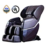 Zero Gravity Full Body Electric Shiatsu FDA Approved Massage Chair Recliner with Built-in Heat Therapy and Foot Roller Air Massage System Stretch Vibrating for Home Office,Brown