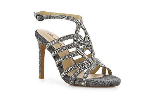 Zinda 9120 - Zapatos de tacón de cuero para mujer, color marrón, talla 38