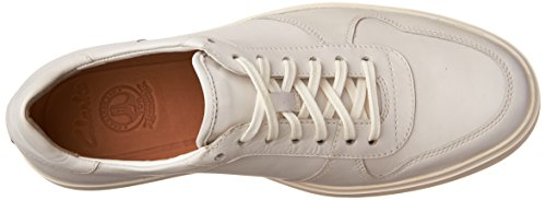 Sneaker Clarks Mens Calderon Speed In Pelle Bianca