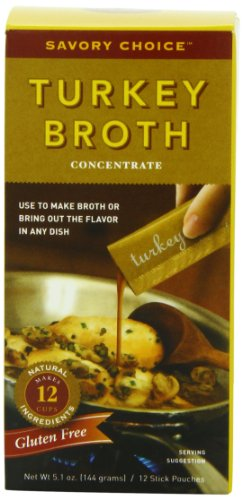 Savory Choice Liquid Turkey Broth Concentrate, 5.1 Ounce Box (Savory Choice Chicken Broth compare prices)