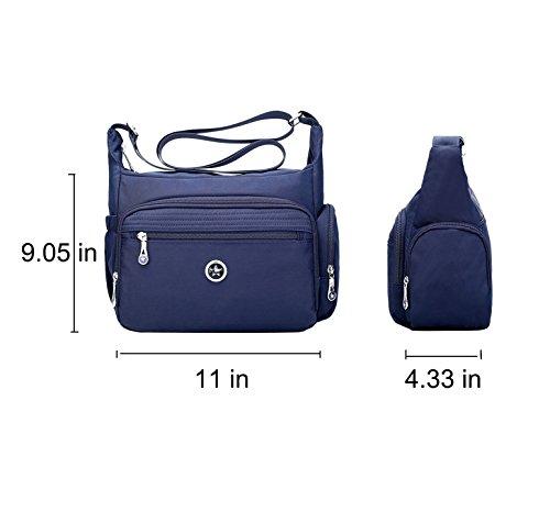 Bag Organize Women Fabuxry Handbag Crossbody Purses Black Messenger for Shoulder Pack axPUq