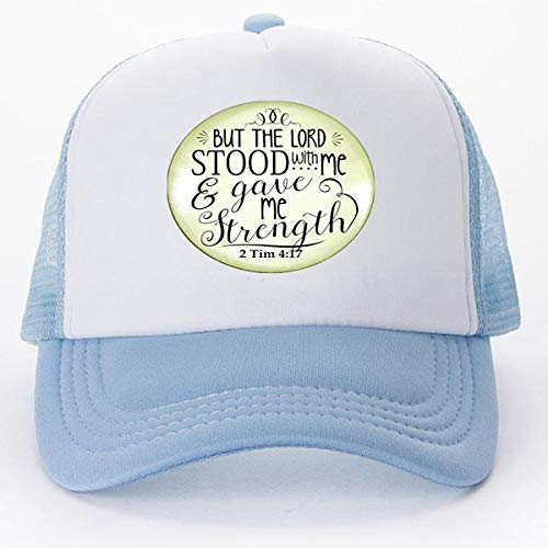 Jesus Fish Faith Necklace But the Lord Stood With And Gave Me Strength Scripture Christian Jewelry For Women Baseball caps Golf - Golf Fish Cap