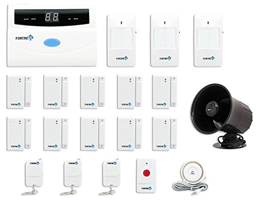 Fortress Security Store (TM) S02-B Wireless Home and Business Security Alarm System DIY Kit with Auto Dial + Outdoor Siren and More for Complete Home and Business Security by Fortress Security Store