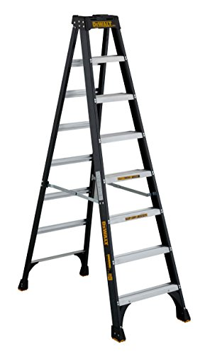 Ladder Fiber - DeWalt DXL3010-08 8-Feet Fiberglass Stepladder Type IA with 300-Pound Duty Rating, 8-Feet, Color may vary