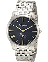 Analog Quartz Watch with Stainless Steel Strap, Silver, 17.8 (Model: 7630030548420)